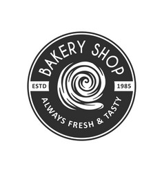 vintage style bakery shop label badge emblem logo vector image