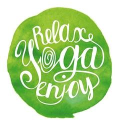 Yoga Green vector