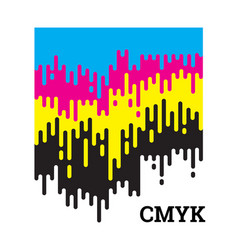 cmyk concept with rounded irregular lines vector image