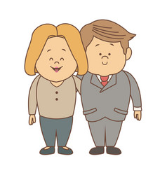 couple of lovely people man and woman hold hands vector image