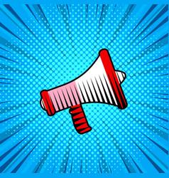 loudspeaker cartoon style poster background vector image vector image