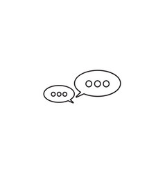 message bubbles thin line icon chat outline vector image vector image