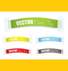 paper tag vector image vector image