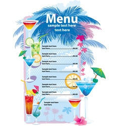 template designs of cocktail menu vector image vector image