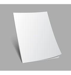 3d blank standing magazine cover vector image