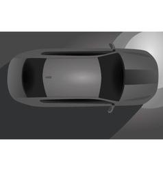 Car bird eye view vector image vector image