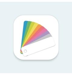 Design color guide fan flat mobile os vector