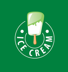 logo ice cream vector image