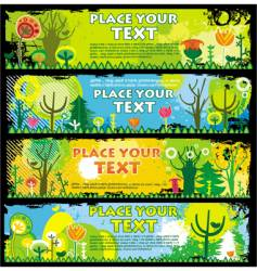 spring banners with copy-space vector image vector image