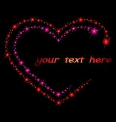 valentine sparkle background vector image