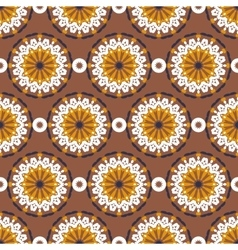 big abstract flowers pattern vector image vector image