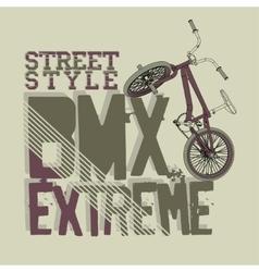 Bmx riding typography vector