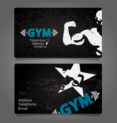business card gym and fitness vector image vector image