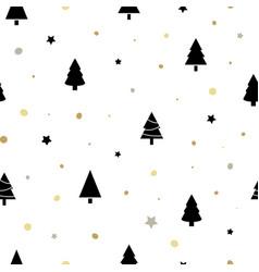 christmas seamless pattern with black christmas vector image