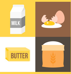 Ingredients icon for bakery products vector