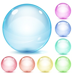 Multicolored glass spheres vector image