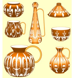 Pottery Collection vector image vector image