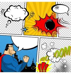Retro Comic Book Speech Bubbles vector image vector image