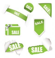 shop sale elements green vector image