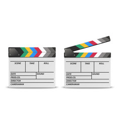 3d realistic blank closed and opened movie vector
