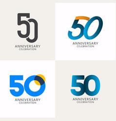 50 years anniversary celebration compilation logo vector
