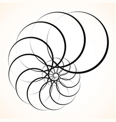 Abstract circular element spinning swirling forms vector