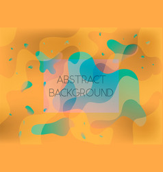 abstract orange and green vibrant background vector image