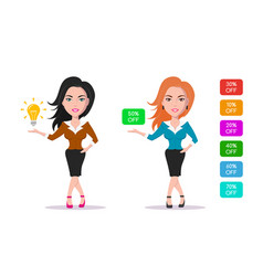 advertising woman character vector image