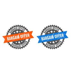 bargain offer band sign offer grunge vector image