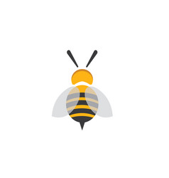 bee open wings and fly for logo design vector image