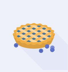 Blueberry pie with blueberries vector