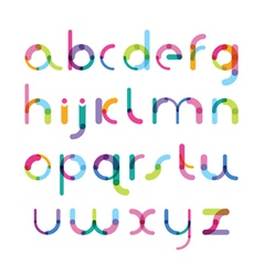 Bright font consisting of details of different vector
