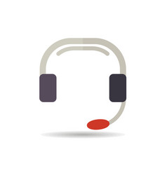 call center icon support sign vector image