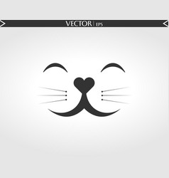 cat smile face vector image