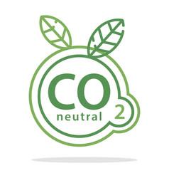 co2 neutral vector image