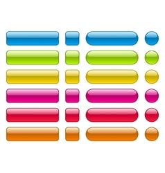 collection blank colorful buttons vector image