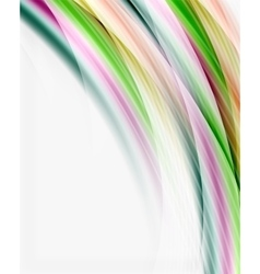 Colorful modern wave line business abstract vector image