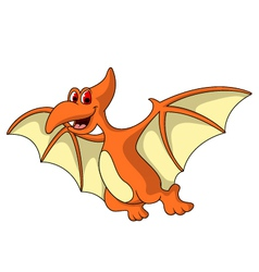 cute pterodactyl cartoon vector image