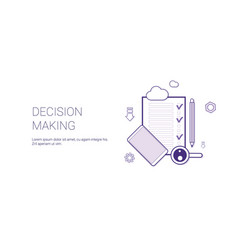 Decision making web banner with copy space vector