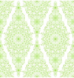 Decorative floral mandala seamless pattern vector image