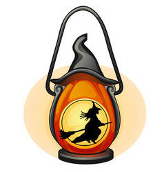 decorative hanging lamp with the image of a vector image
