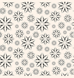 Dotted floral seamless pattern from small circles vector