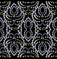 Dotted seamless pattern abstract vintage vector