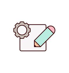 edit icon design vector image