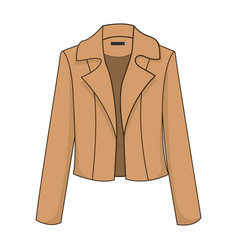 elegant and stylish classic brown blazerjacket vector image
