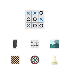 flat icon play set of arrow chess table xo and vector image