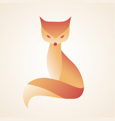 Fox logo stylized simplified and isolated cute vector