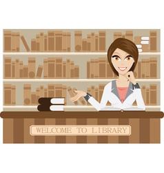 Girl librarian vector image
