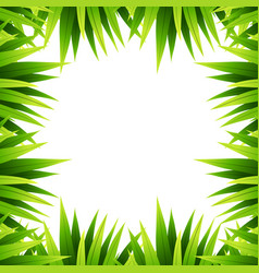 green leaf nature border vector image