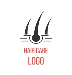 Hair care logo isolated on white background vector